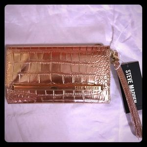 NEW Steve Madden Rose Gold Wristlet/ Wallet